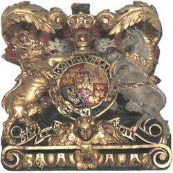 Royal Arms of George III over the south door.