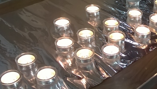 Just a few of the candles that were lit.