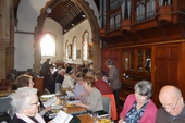 Our Seder meal, at the Maundy Thursday Eucharist