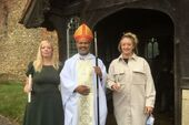 Charlotte and Catherine at their Confirmation with Bishop John