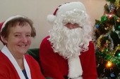Did you see Father Christmas and his Helper?