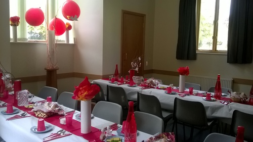 A lovely setting for our Pentecost meal