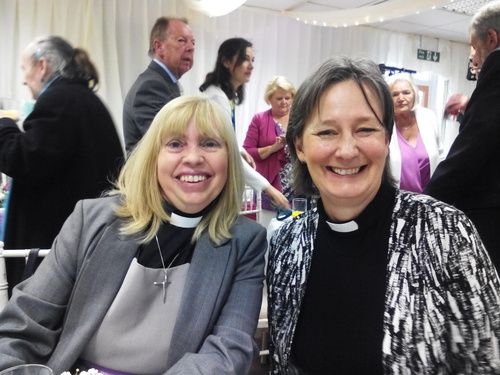Revd's. Carolyn and Anne enjoyed the wedding too.