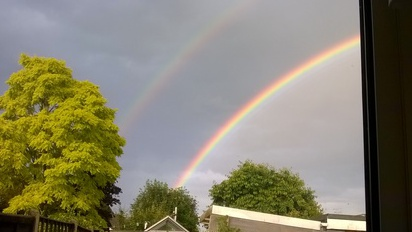 An amazing double rainbow for us all here at St Mary's