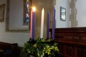 The first Advent candle of HOPE