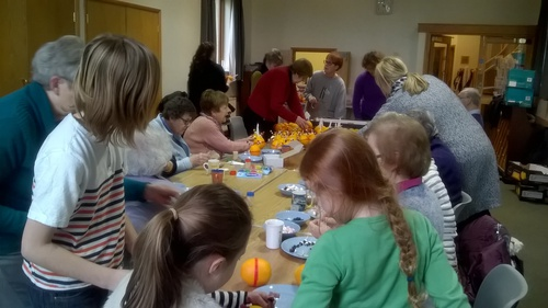 Many hands made the Christingles
