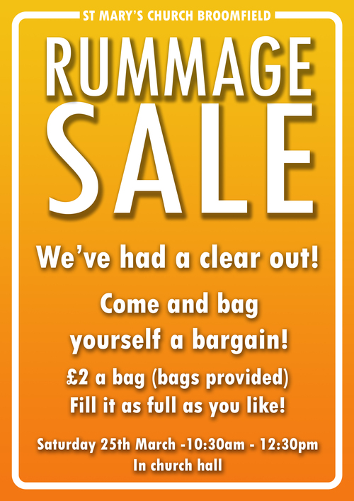 St  Mary with St  Leonard News | Rummage Sale