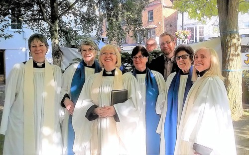 A cluster of clergy