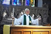 Revd Julie presiding at the Eucharist