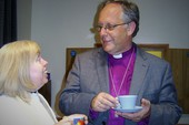 Bishop John, always like to stay for a chat and a cup of tea