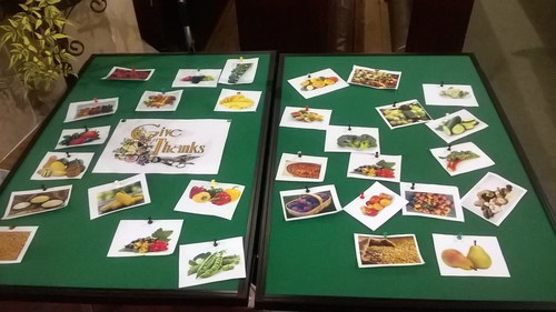 The Harvest collage assembled by the children