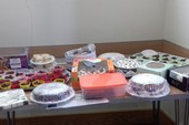 Just a small display of cakes for CHESS