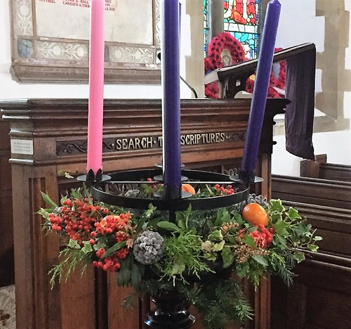 The advent wreath waiting for light.
