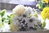 Beautiful flowers for two beautiful people.