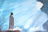 And he was transfigured before them.
